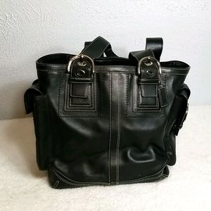 Coach Black Mia Shopper Soho Tote